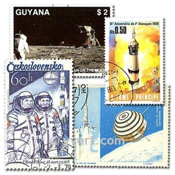 ASTRONAUTIQUE : pochette de 500 timbres