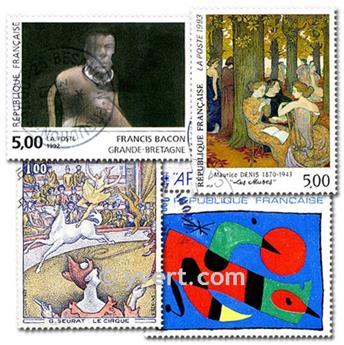 CUADROS: lote de 1000 sellos