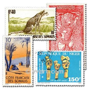 COMUNIDADE FRANCESA: lote de 2000 selos