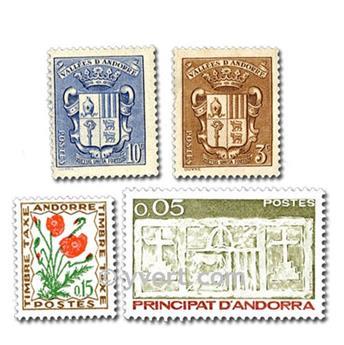 ANDORRA: lote de 25 sellos