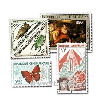 REPÚBLICA CENTROAFRICANA: lote de 100 sellos