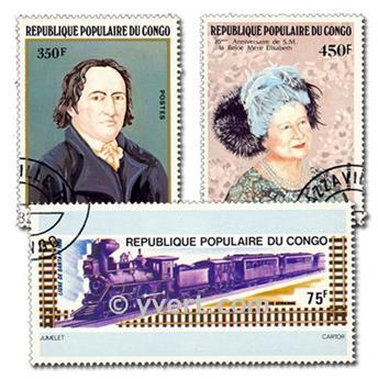 CONGO FRANCAIS : pochette de 50 timbres