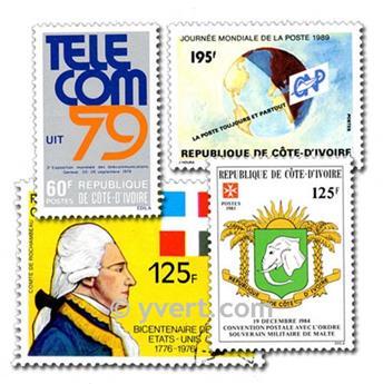 COSTA DE MARFIL: lote de 200 sellos