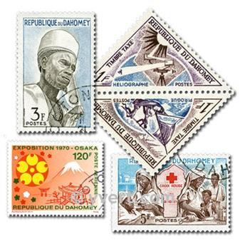 DAHOMEY: lote de 200 sellos