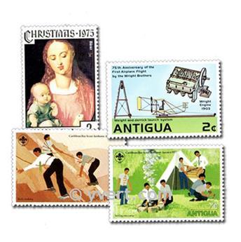 ANTÍGUA E BARBUDA: lote de 25 selos