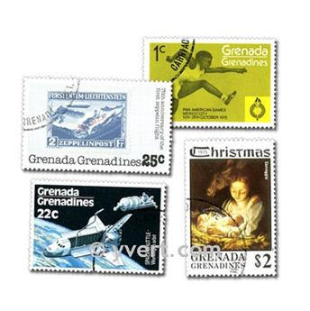 GRENADINES: envelope of 100 stamps