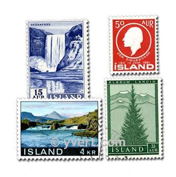 ISLANDE : pochette de 25 timbres