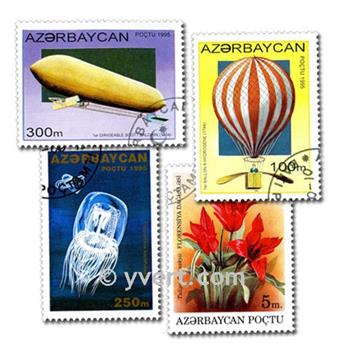 AZERBAIJAN: envelope of 75 stamps