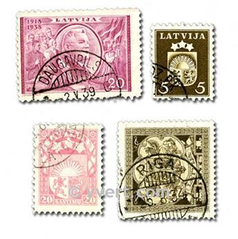 LETTONIE : pochette de 50 timbres