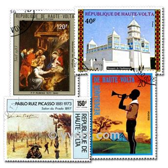 ALTO VOLTA FRANCÉS: lote de 200 sellos