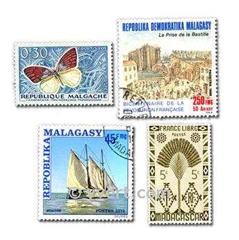 MADAGASCAR: envelope of 200 stamps