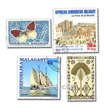 MADAGASCAR: lote de 200 sellos