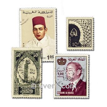 MARRUECOS: lote de 100 sellos