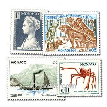 MÓNACO: lote de 100 sellos