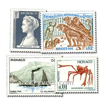 MONACO: envelope of 100 stamps