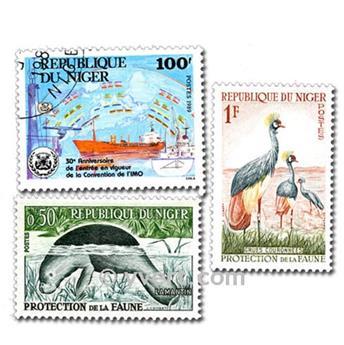 NÍGER: lote de 100 sellos