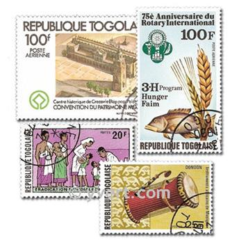 TOGO: envelope of 200 stamps