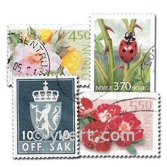 NORWAY: envelope of 200 stamps