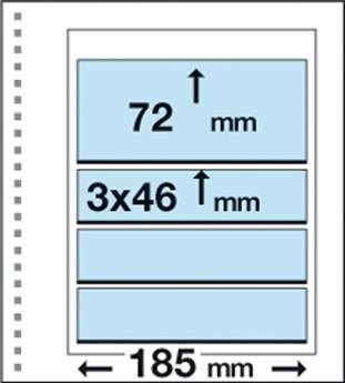 Recharges CK21 : 4 bandes(3x46x185mm et 72x185mm)