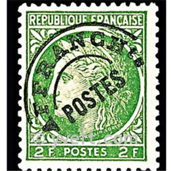 n° 92 -  Selo França Pré-obliterados