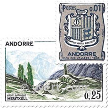 n° 153A/164 -  Timbre Andorre Poste