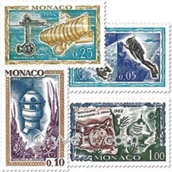 n° 591/597 -  Selo Mónaco Correios