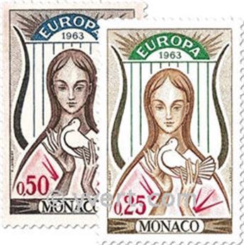 n.o 618/619 -  Sello Mónaco Correos