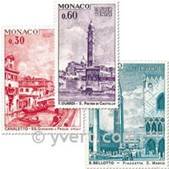 n° 887/889 -  Selo Mónaco Correios