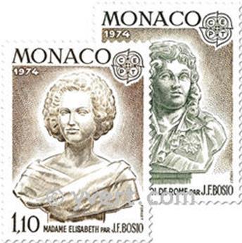 n.o 957/958 -  Sello Mónaco Correos