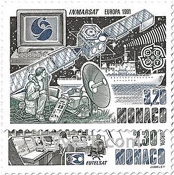 n.o 1768/1769 -  Sello Mónaco Correos