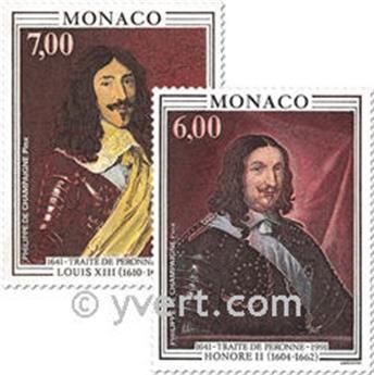 n° 1787/1788 -  Selo Mónaco Correios