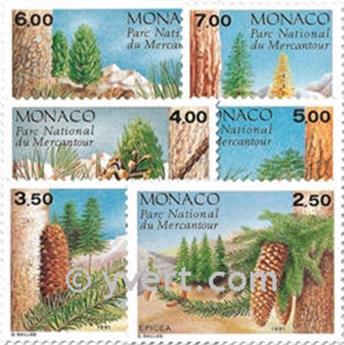 n° 1799/1804 -  Selo Mónaco Correios