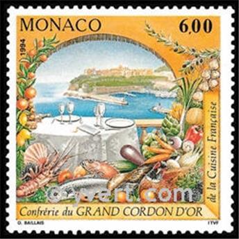 n° 1934 -  Timbre Monaco Poste