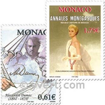 n.o 2363/2364 -  Sello Mónaco Correos