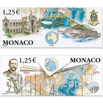 n° 2391/2392 -  Selo Mónaco Correios