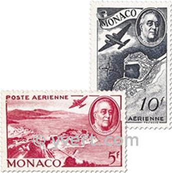 n.o 19 / 21 -  Sello Mónaco Correo aéreo