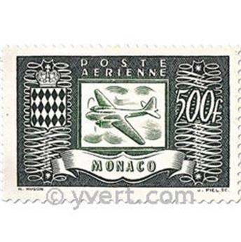 n.o 42 / 44 -  Sello Mónaco Correo aéreo
