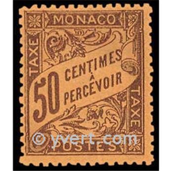 n° 7 -  Selo Mónaco Taxa