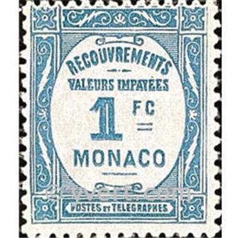 n° 27 -  Selo Mónaco Taxa