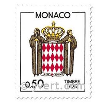 n° 83/86 -  Selo Mónaco Taxa