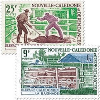 n.o 356/357 -  Sello Nueva Caledonia Correos