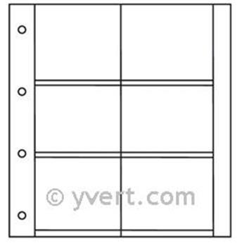 Recargas ALBUM CP LUXE: 6 compartimentos horizontais