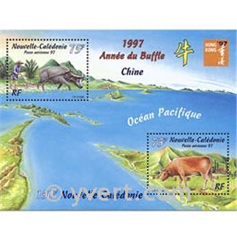 n.o 18 -  Sello Nueva Caledonia Bloque y hojitas