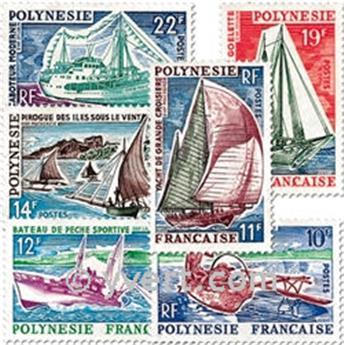 n° 36/41 -  Selo Polinésia Correios