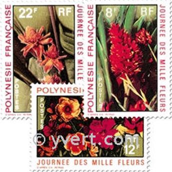 n° 83/85 -  Selo Polinésia Correios