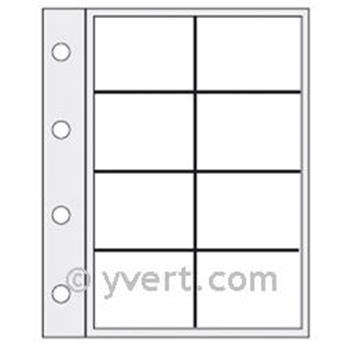 Recambios flexibles «CARAVELLE»: 8 compartimentos (TARJETAS TELEFÓNICAS)
