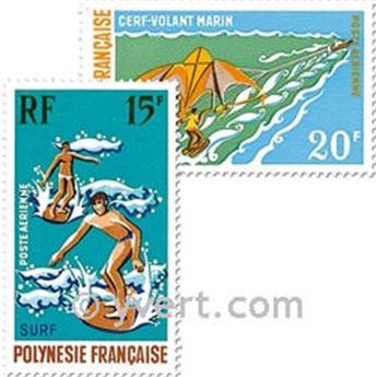 n° 48/50 -  Selo Polinésia Correio aéreo