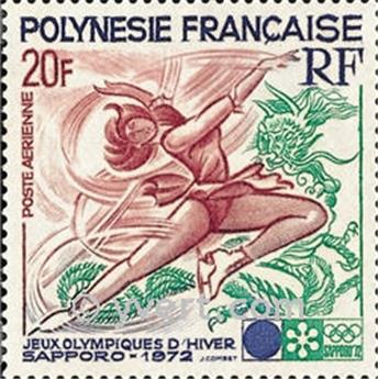 n° 61 -  Selo Polinésia Correio aéreo