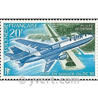 n° 74 -  Selo Polinésia Correio aéreo