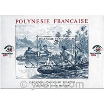 n° 9 -  Selo Polinésia Blocos e folhinhas